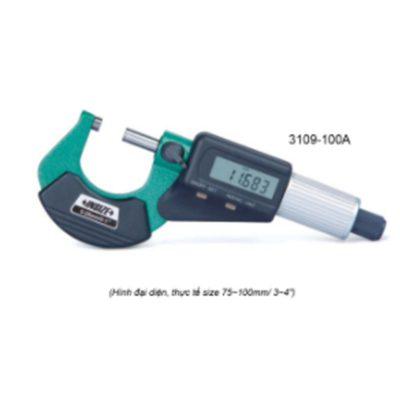 """Panme đo ngoài điện tử Insize 3109-75A 50~75mm 0.001mm 2~3"""" 0.00005"""""""