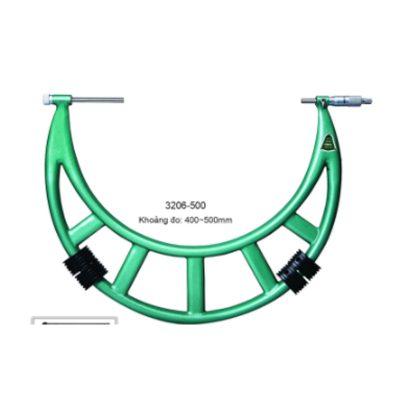 Panme đo ngoài cơ khí đầu đo hoán đổi Insize 3206-500 400~500mm 0.01mm