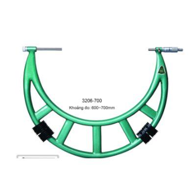 Panme đo ngoài cơ khí đầu đo hoán đổi Insize 3206-700 600~700mm 0.01mm