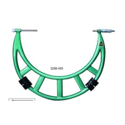 Panme đo ngoài cơ khí đầu đo hoán đổi Insize 3206-400 300~400mm 0.01mm